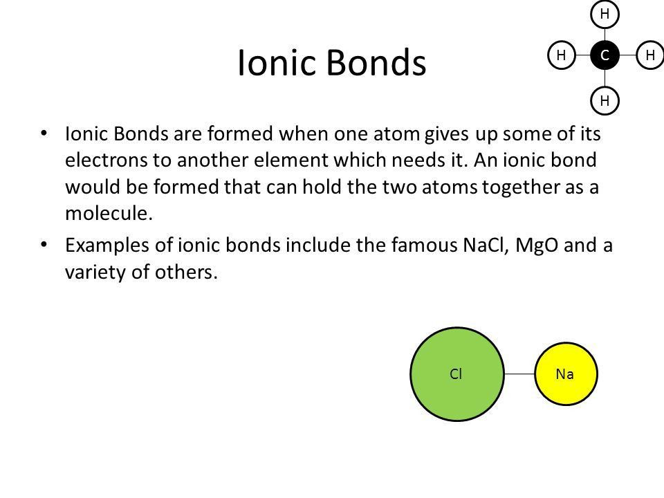 CH H H H Chemistry All you need to know about bonding (unless you ...