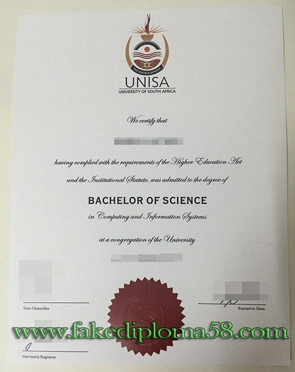 buy a fake University of South Africa degree, UNISA ...