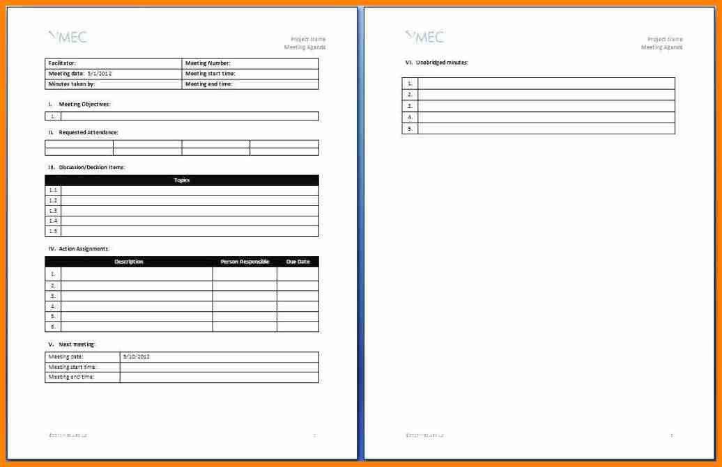 10+ effective meetings agenda - mail clerked