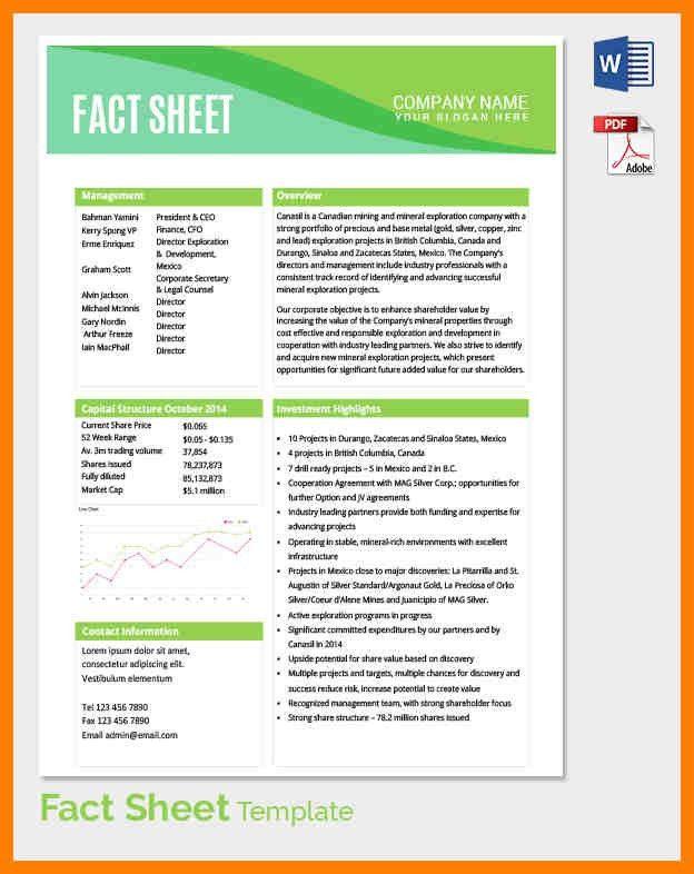 10+ template fact sheet | produce-clerk
