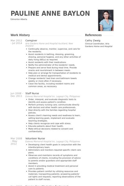 25+ Professional Caregiver Resume Samples : Vinodomia
