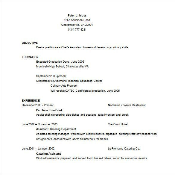 Chef Resume Sample, Examples, Sous, Chef Jobs, Free, Template ...