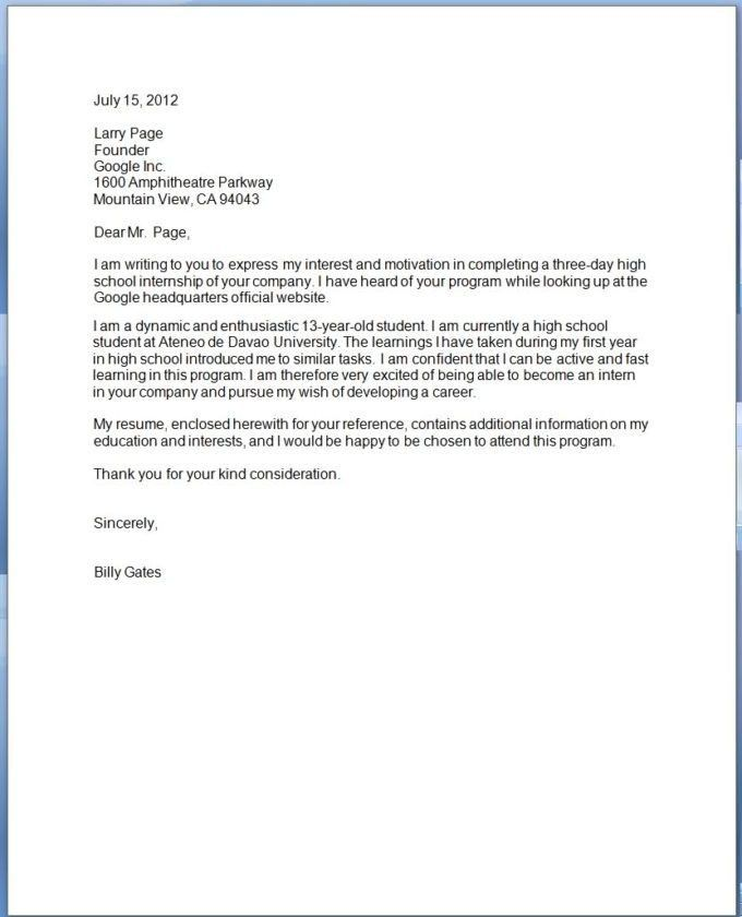 Examples Of Formal Letterhead And Business Letter Sample Word ...