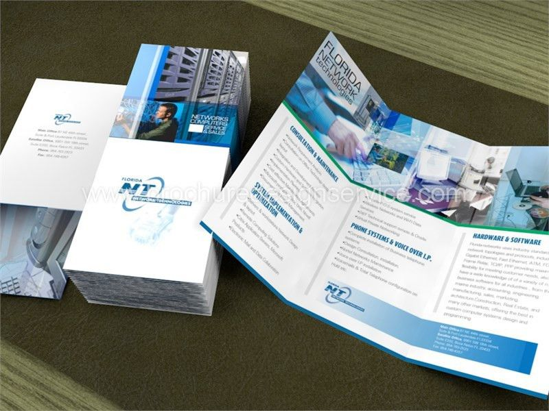 Design of an IT Company Tri-Fold Brochure - Examples, Free ...