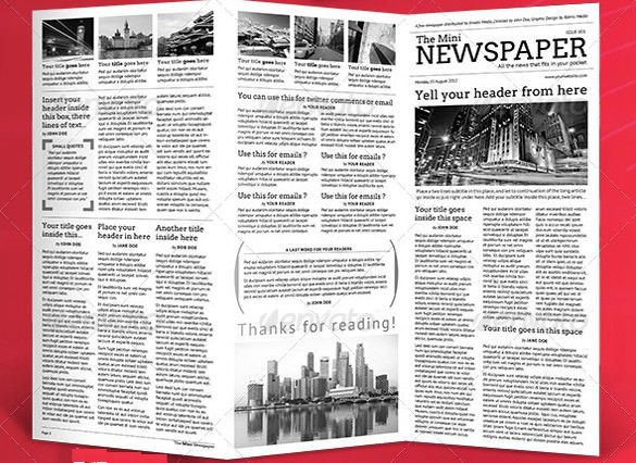 8+ School Newspaper Templates – Free Sample, Example, Format ...