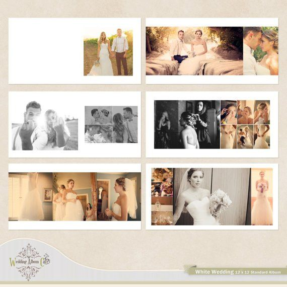 White Wedding Wedding Album Template for by WeddingAlbumCafe ...