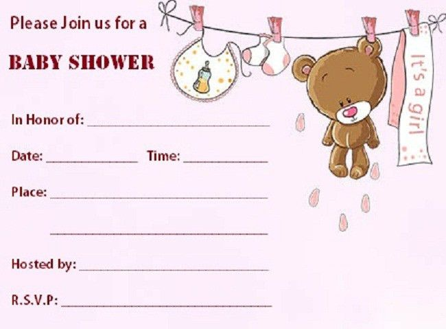 Blank Baby Shower Invitations | christmanista.com