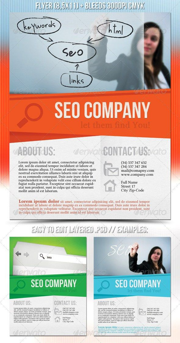 SEO Company Flyer by mKrukowski | GraphicRiver