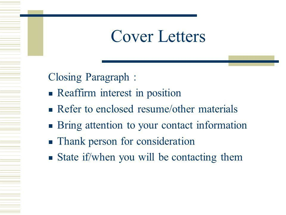 RESUMES, COVER LETTERS AND INTERVIEWING - ppt download