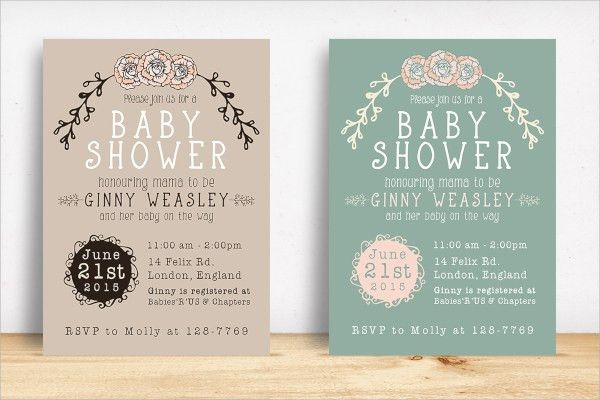 20+ Sample Baby Shower Invitations - PSD, Vector EPS
