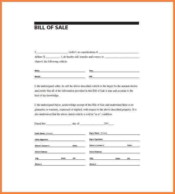 9+ bill of sale template word document | Simple Cash Bill
