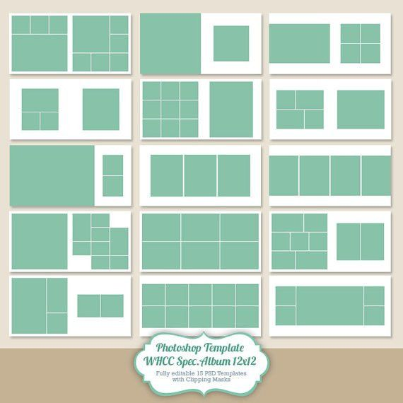 Instant Download 12x12 Square album template for photographers ...