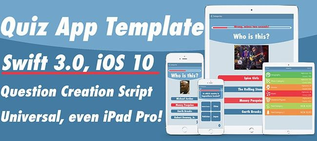Buy Quiz App Template for Swift 2.2 / iOS9 Trivia and Quiz ...