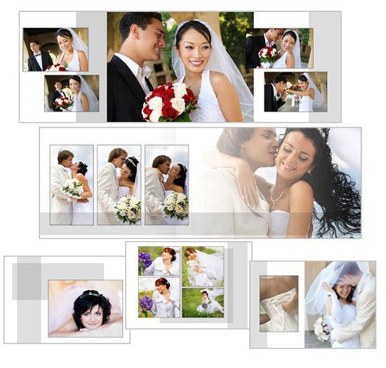 Classic White Landscape Wedding Album Photoshop Wedding Design ...
