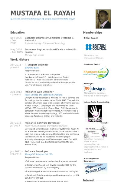It Support Engineer Resume samples - VisualCV resume samples database
