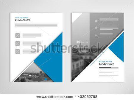 Annual Report Template Design Book Cover Stock Vector 402052813 ...