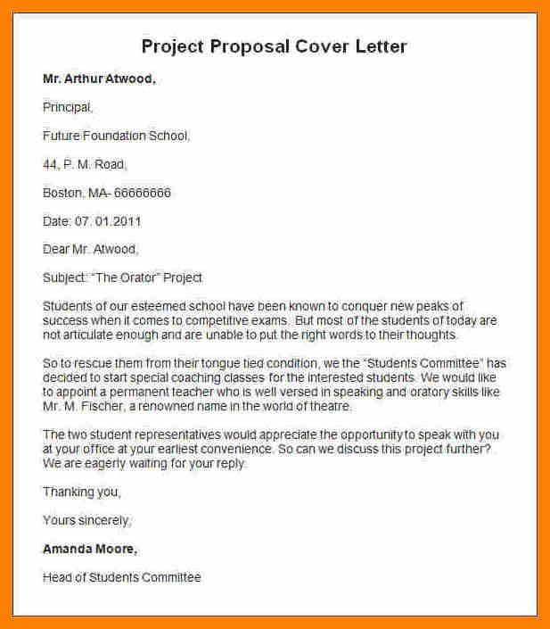 Writing A Cover Letter For Project Proposal - Shishita-world.com