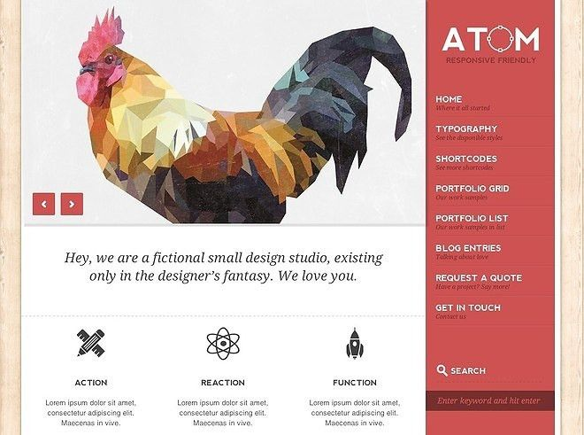 Responsive WordPress Design Template - Best Designs Award