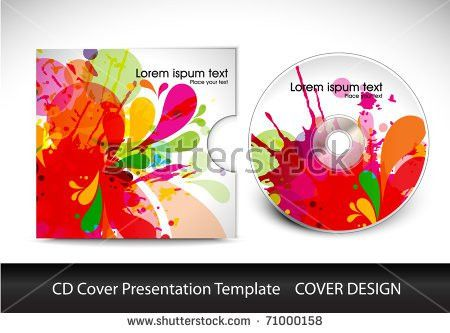 Cd Cover Presentation Design Template Editable Stock Vector ...