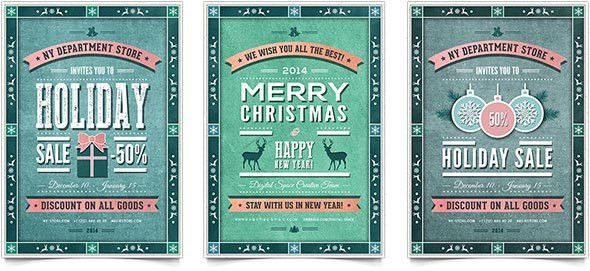 30 Christmas Holiday PSD & AI Flyer Templates | Pixel Curse