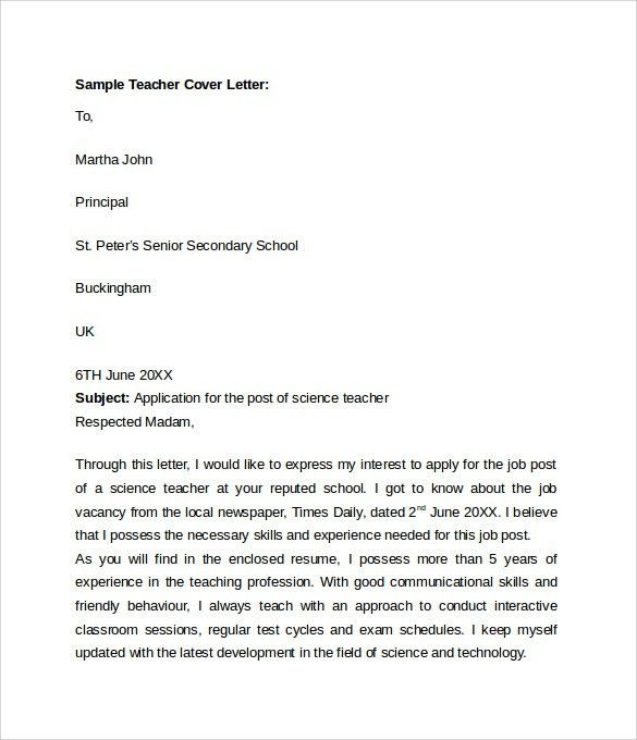 education cover letter lead preschool teacher sample cover letter ...