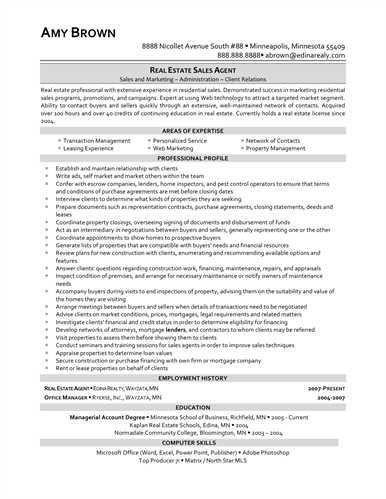 Attractive Design Ideas Real Estate Agent Resume 3 Real Estate ...