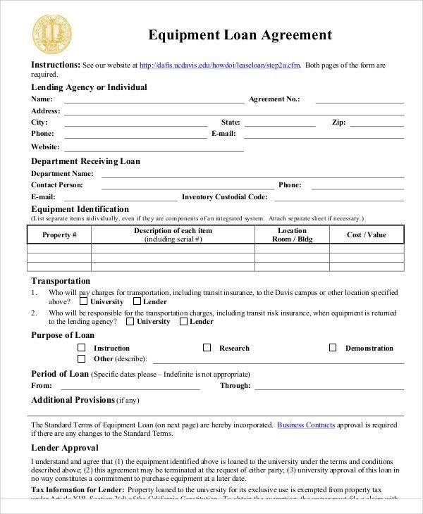 25+ Loan Agreement Templates   Free & Premium Templates