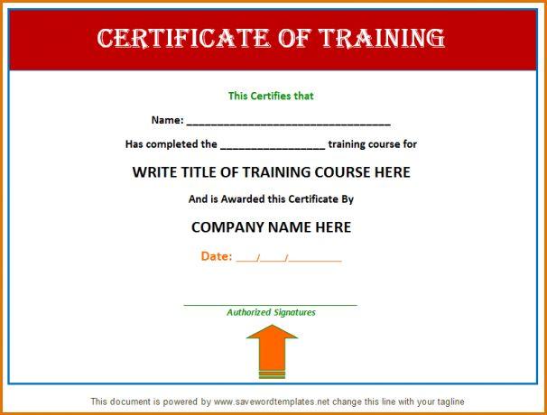 t8+ raining certificate template | Job Resumes Word