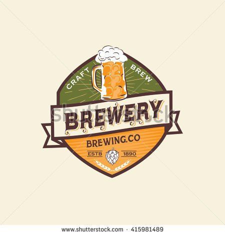 Beer Label Logo Template Stock Vector 415981489 - Shutterstock