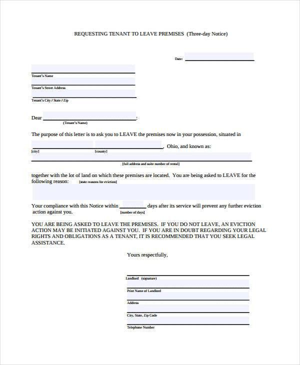 29 Free Notice Forms