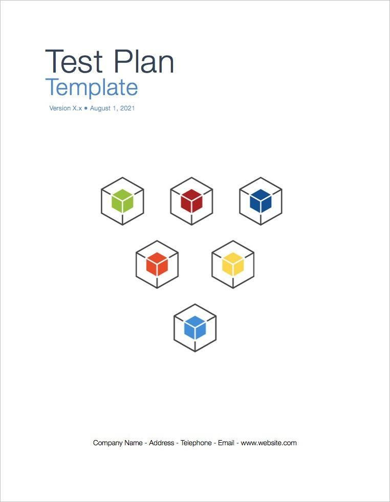 Test Plan Template (Apple iWork Pages and Numbers)
