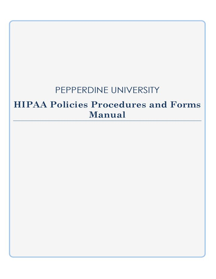 HIPAA Policies Procedures and Forms Manual Free Download