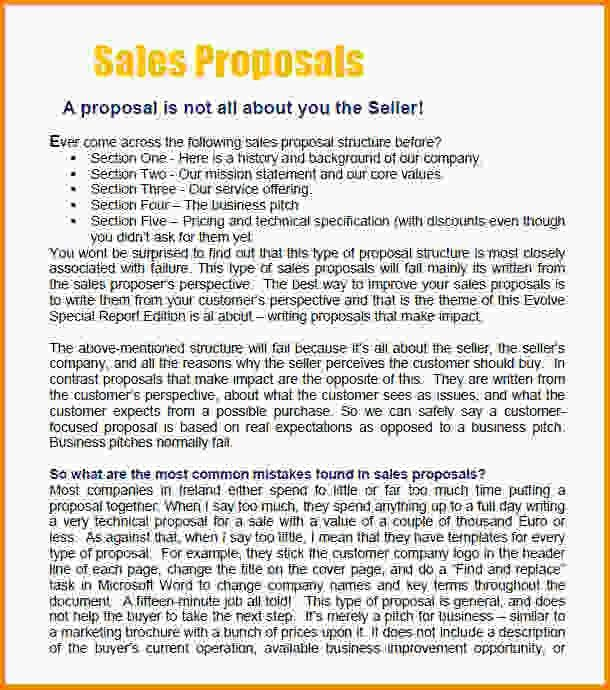 10+ sale proposal template | Letter Template Word