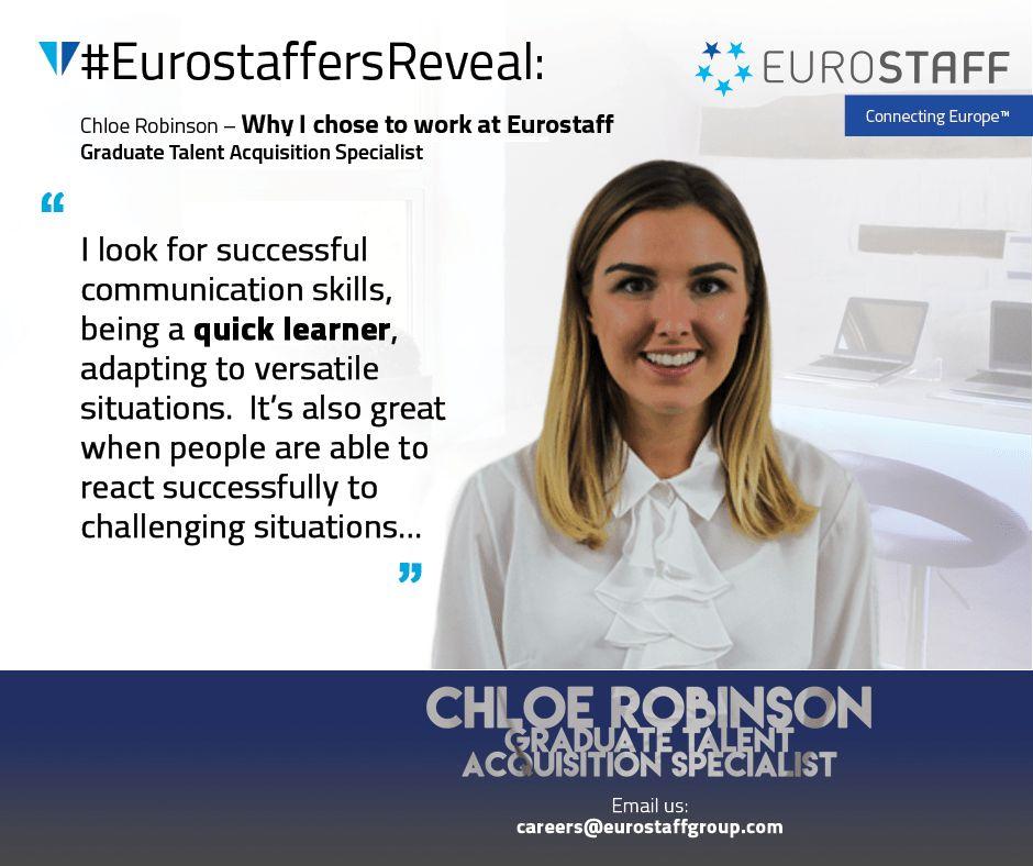 EurostaffersReveal: Graduate Talent Acquisition Specialist Chloe ...