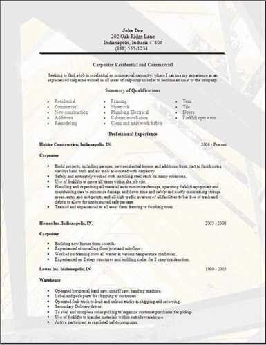 "Sample <a href=""http://finder.tcdhalls.com/carpenter-resume.html ..."