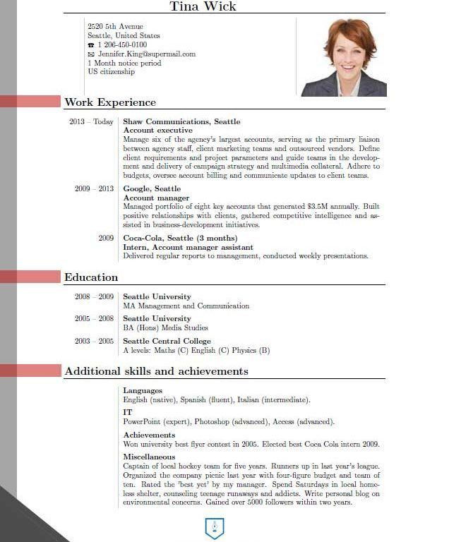 Projects Idea Of New Resume Format 4 Updated 2016 Structure ...