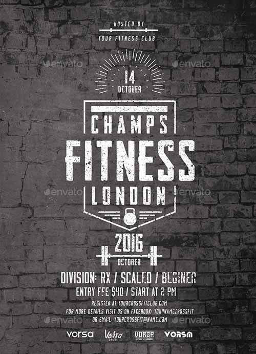 Fitness Event Flyer Template - Download Electro and DJ Party Flyer ...
