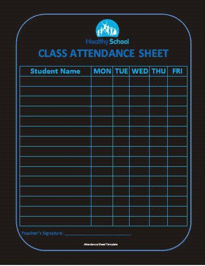 3 Best Attendance Sheet Templates   Free Word Templates