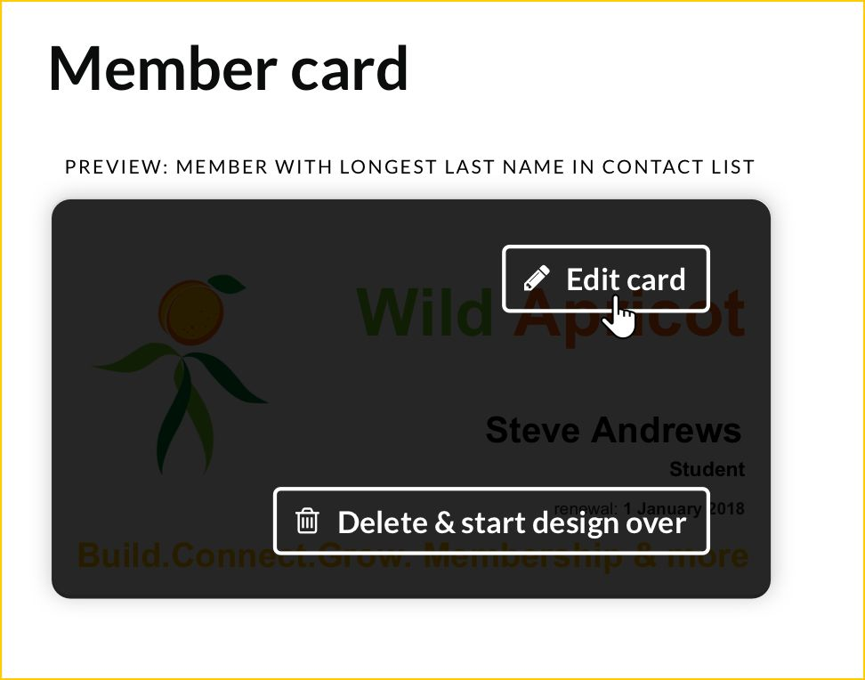 Membership cards - Online help - Wild Apricot help