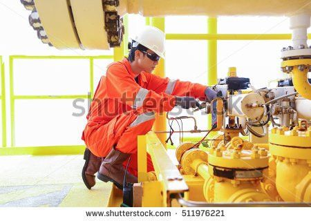 Electrical Instrument Technician Checking Electrical Control Stock ...