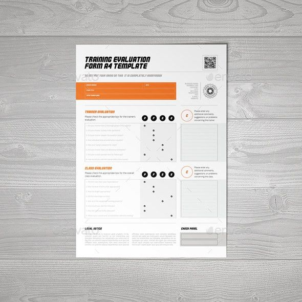 Training Evaluation Form A4 Template by Keboto | GraphicRiver