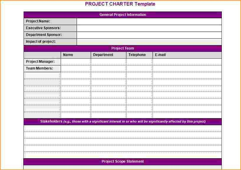 project charter template | Questionnaire Template