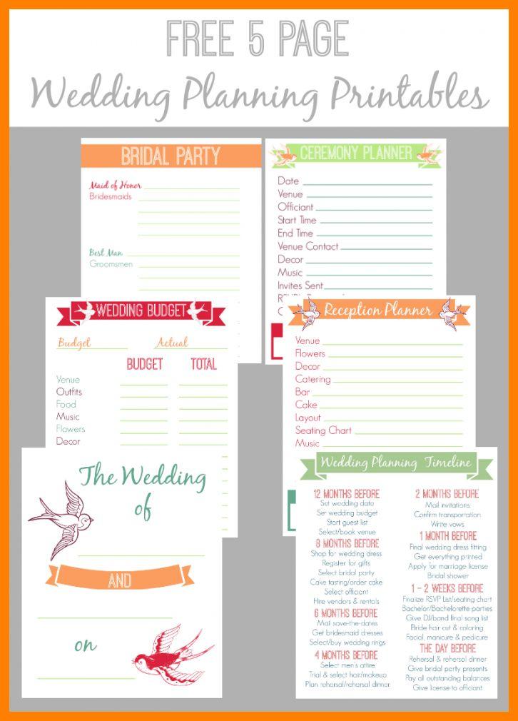 6+ free printable wedding planning templates | hostess resume