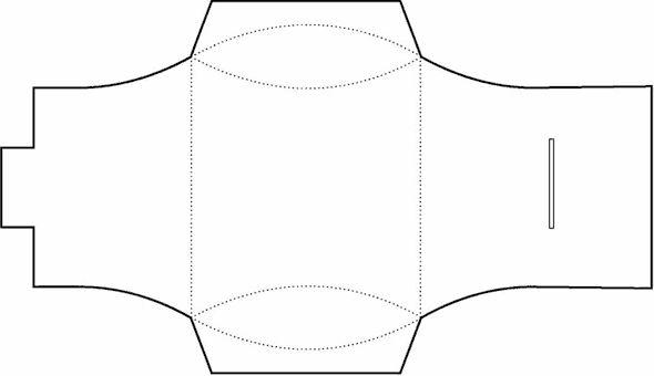 Pillow Box Template No.01 | Free Box Templates Store