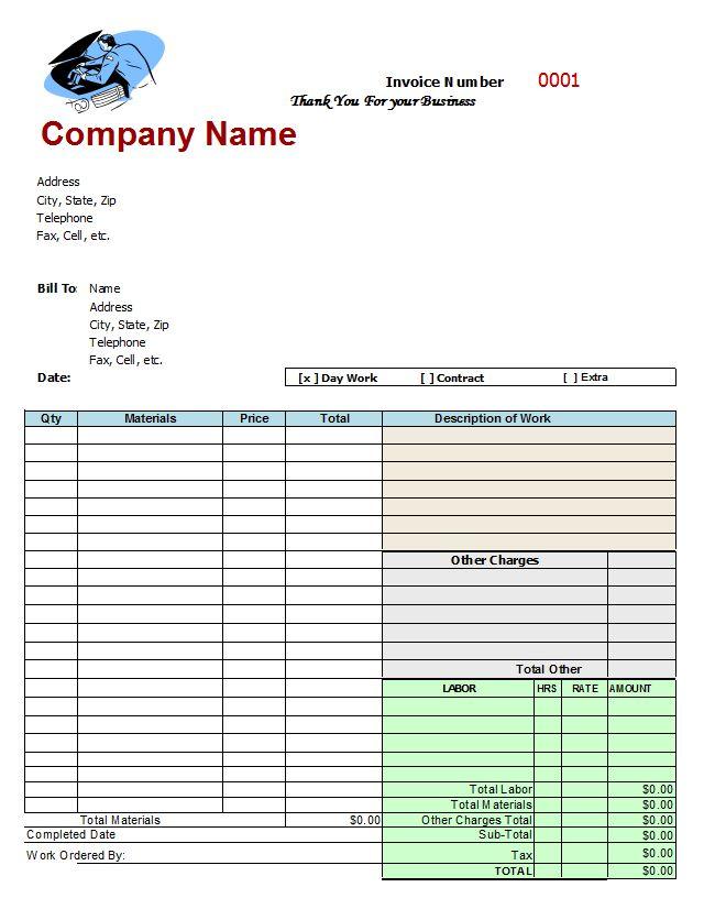 mechanics invoice | Auto Repair Invoice Template... | TOLEDO METRO ...