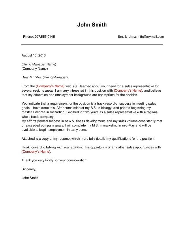 Impressive Business Cover Letter 4 Best Examples - CV Resume Ideas