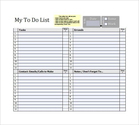 To Do List Template - 16+ Download Free Documents in Word, Excel, PDF