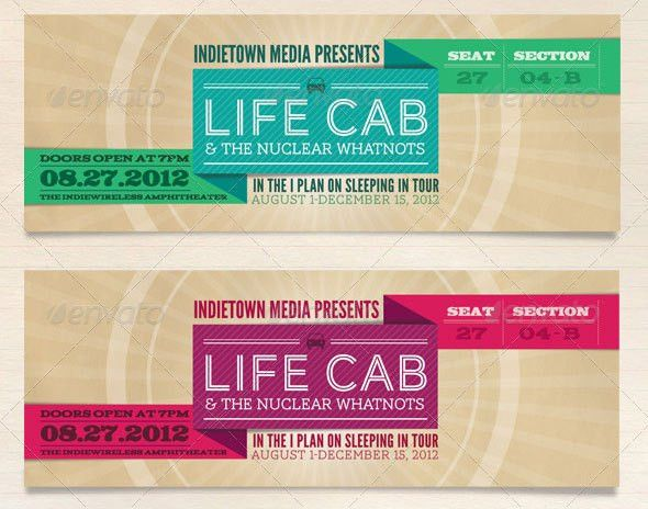 25 Awesome Ticket Invitation Design Templates | Web & Graphic ...