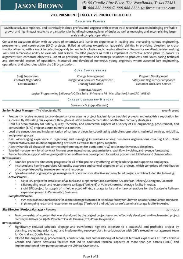 Management Resume Examples - Resume Professional Writers