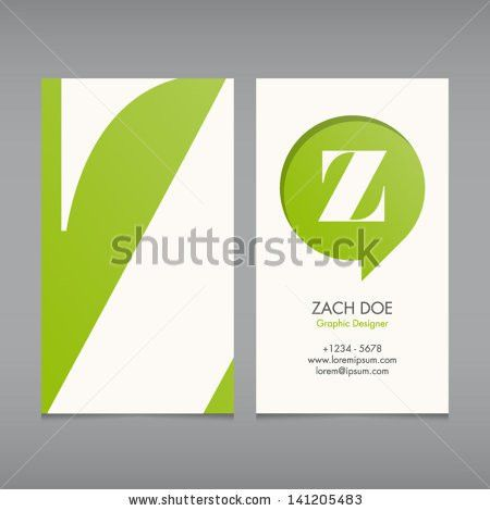 Business Card Vector Template Alphabet Letter Stock Vector ...